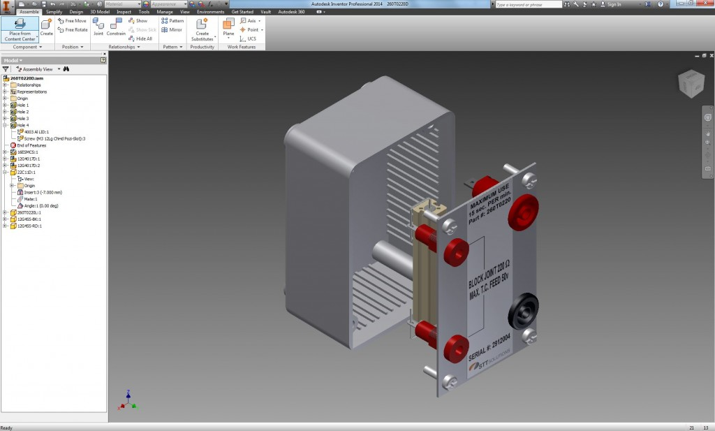 STT Solutions uses the Autodesk Inventor Suite of products for our CAD Design service.