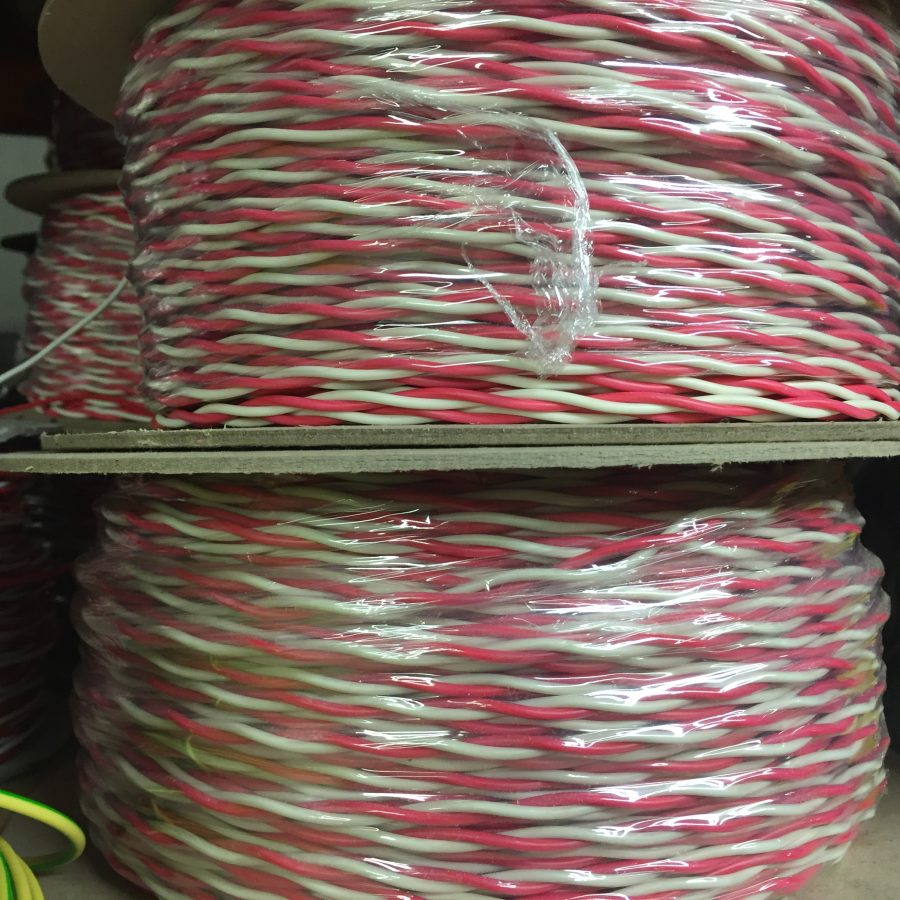 Cable, RedWhite 0.75 SSI Twisted