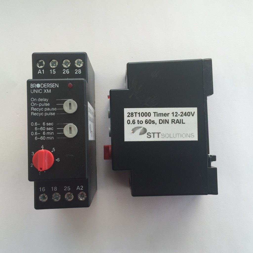 28T1000 Timer 12-240V 0.6 to 60s, DIN Rail Mounting